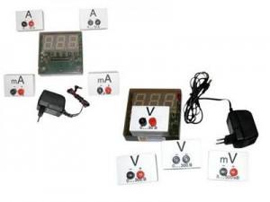 Набор электроизмерительных приборов постоянного и переменного тока